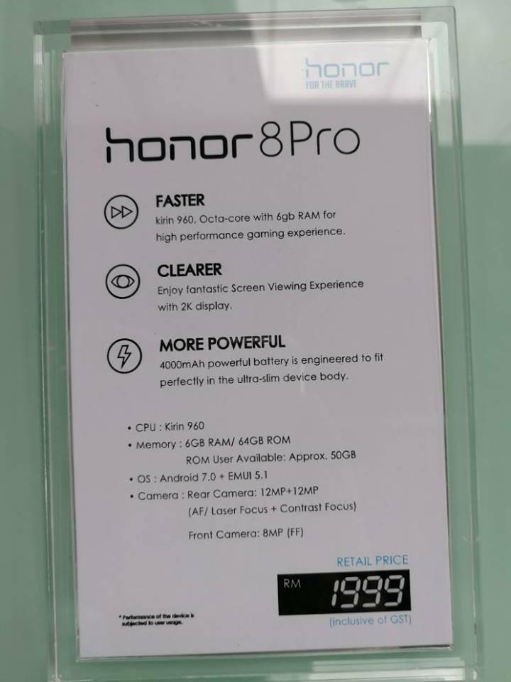 Honor 8 Pro8