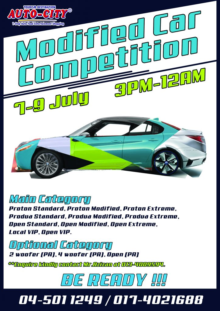 Modified Car Competition Poster