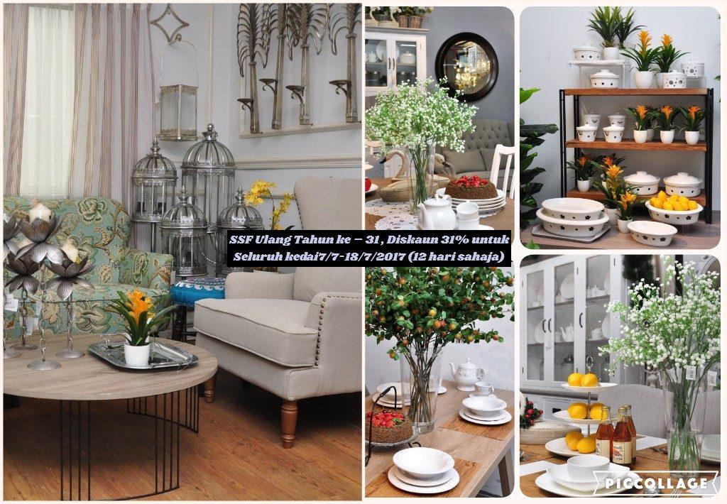 Ssf ulang tahun ke 31 diskaun 31 untuk seluruh kedai7 for Ssf home designs